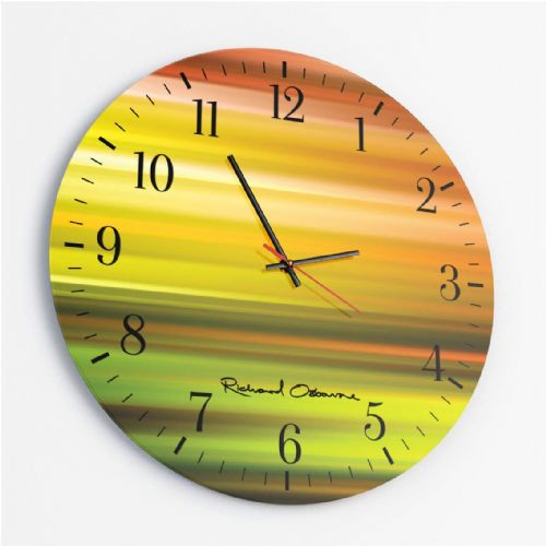 Kinetic KA1_91 - Round Glass Clock